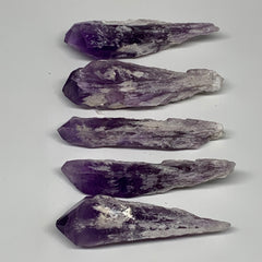 "93.1g,2.6""-2.9"", 4pcs, Amethyst Point Crystal Rough Mineral Specimens, B6894"