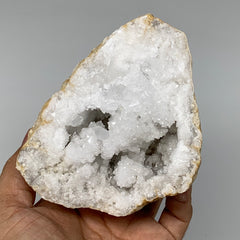 "2.93Lbs,5.8""x4.4""x3.3"", 1 Pair, Natural Quartz Geodes Sculpture @Morocco,B10512"