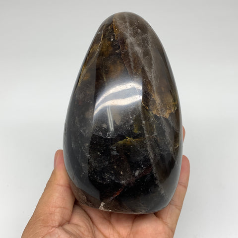 "816g, 4.6""x 2.9x2.5"" Natural Black Moonstone Freeform Crystal @Madagascar,B3245"