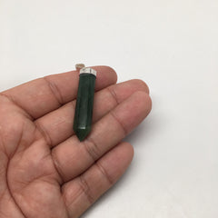 30.5 cts Natural Handmade Green Nephrite Jade Point pendant from Afghanistan,C60 - watangem.com