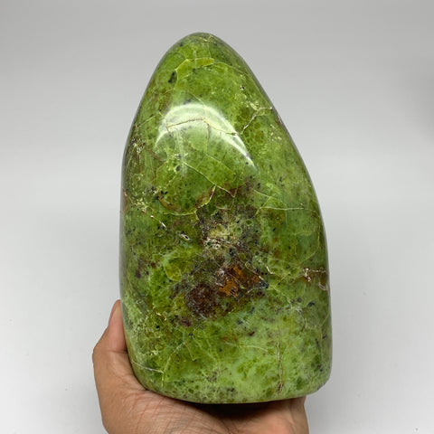 "1606g,6.5""x4""x2.7""Natural Green Opal Freeform Polished Gemstone Stands,B3251"