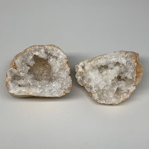 "0.99Lbs,4.4""x2.9""x2.4"", 1 Pair, Natural Quartz Geodes Sculpture @Morocco,B10525"