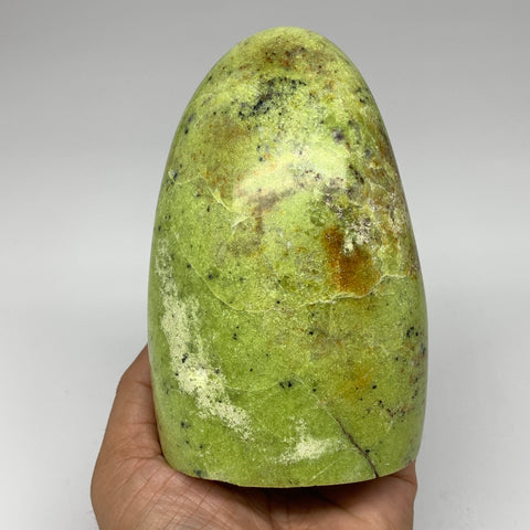 "774g, 4.9""x3.3""x2.4""Natural Green Opal Freeform Polished Gemstone Stands,B3254"