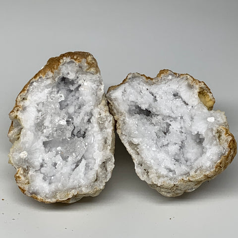 "4.41Lbs,5.8""x5.3""x3.8"", 1 Pair, Natural Quartz Geodes Sculpture @Morocco,B10528"