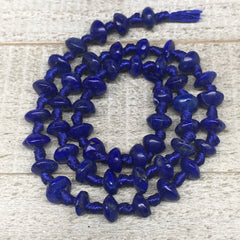 25g,7mm-9mm, 48 beads, Lapis Lazuli Saucer Disc Shape Beads Strand, LpB656