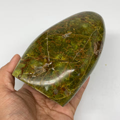 "972g, 5.5""x3.2""x3""Natural Green Opal Freeform Polished Gemstone Stands,B3256"