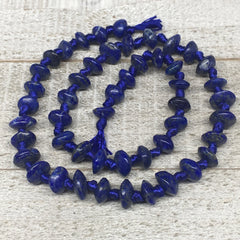 33.9g,8mm-10mm, 49 beads, Lapis Lazuli Saucer Disc Shape Beads Strand, LpB661