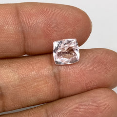 3.39cts, 8mmx8mmx6mm, Kunzite Crystal Facetted Cut Stone @Afghanistan, CTS09