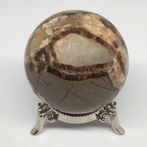 "384.6g, 2.5""Natural Septarian Sphere Crystal Gemstone Ball @Madagascar, MSP185"