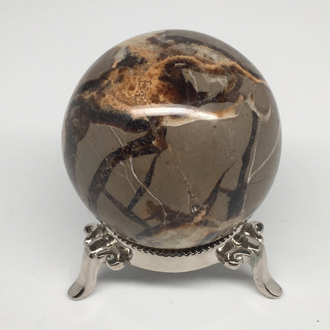"308.4g, 2.3""Natural Septarian Sphere Crystal Gemstone Ball @Madagascar, MSP184"