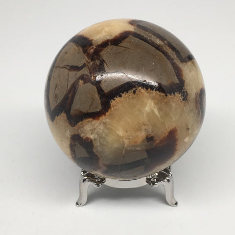 "326.2g,2.4"" Natural Septarian Sphere Crystal Gemstone Ball @Madagascar, MSP196"