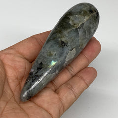 "144.25g,4.4""x1.2"" Natural Labradorite Wand Stick, Home Decor, Collectible, B5991"