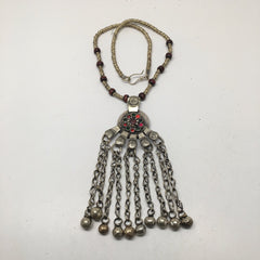 Handmade Vintage Afghan Tribal Kuchi Fashion Chained Bells Coin Necklace,KN305 - watangem.com