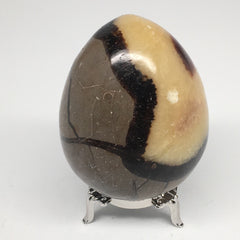 "329.2g, 2.9""x2.2"" Natural Polished Septarian Egg, gemstones @Madagascar,MSP221"