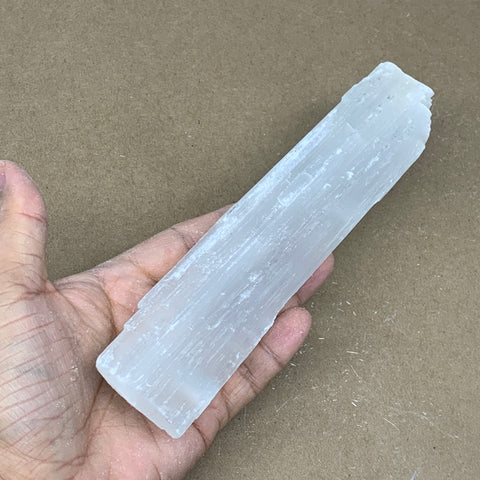 "172.8g, 7.9""x1.6""x0.6"", Rough Solid Selenite Crystal Blade Sticks @Morroco,B12224"