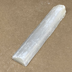 "258g, 7.25""x1.5""x1.1"", Rough Solid Selenite Crystal Blade Sticks @Morroco,B12238"