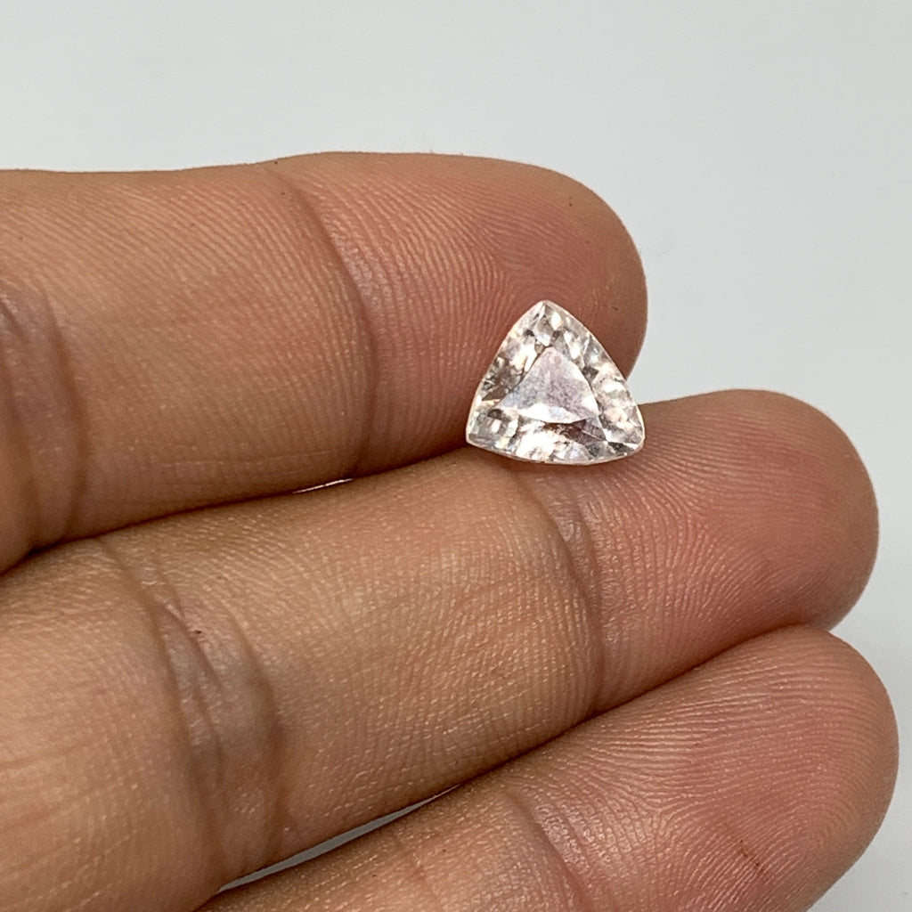 2.96cts, 8mmx8mmx6mm, Kunzite Crystal Facetted Cut Stone @Afghanistan, CTS35
