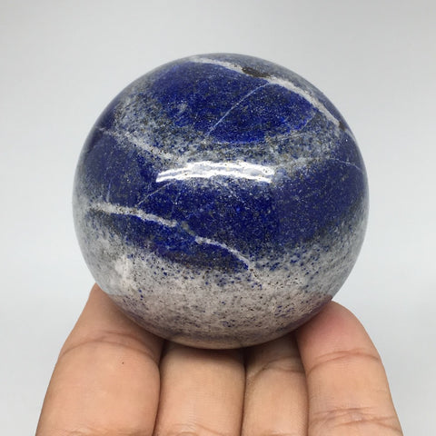 "324.2g, 2.3"" Natural Lapis Lazuli Crystal Sphere Ball Handmade @Afghanistan,LS27"