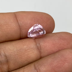 3.99cts, 10mmx7mmx7mm, Kunzite Crystal Facetted Cut Stone @Afghanistan, CTS41
