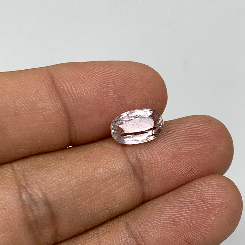 3.08cts, 10mmx6mmx5mm, Kunzite Crystal Facetted Cut Stone @Afghanistan, CTS42