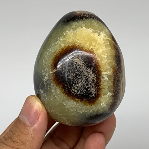 "210.6g, 2.5""x2"" Natural Polished Septarian Egg, gemstones @Madagascar,B5220"