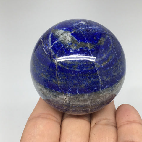 "273.4g, 2.2"" Natural Lapis Lazuli Crystal Sphere Ball Handmade @Afghanistan,LS16"