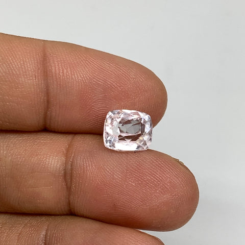3.37cts, 9mmx7mmx6mm, Kunzite Crystal Facetted Cut Stone @Afghanistan, CTS50