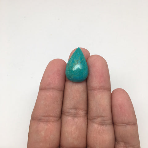 13 cts Natural Teardrop Shape Chrysocolla Cabochon From Mexico, CC22 - watangem.com