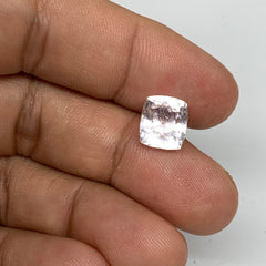 4.39cts, 9mmx8mmx6mm, Kunzite Crystal Facetted Cut Stone @Afghanistan, CTS52