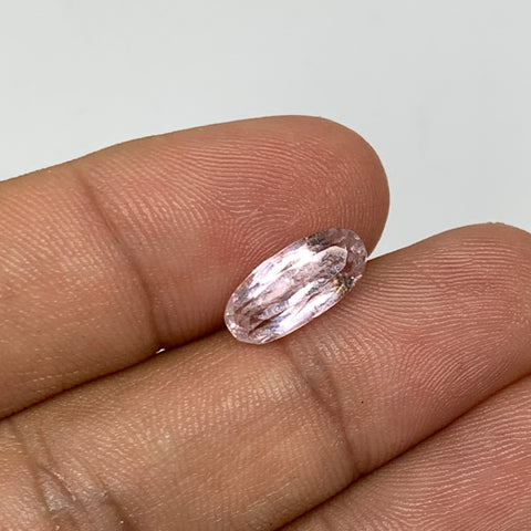 3.19cts, 12mmx5mmx5mm, Kunzite Crystal Facetted Cut Stone @Afghanistan, CTS54
