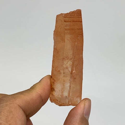 "42.8g, 2.5""x0.9""x0.7"", Natural Red Quartz Crystal Terminated @Morocco, B11426"