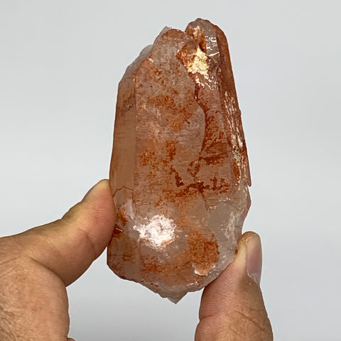 "106.6g, 3.2""x1.5""x1"", Natural Red Quartz Crystal Terminated @Morocco, B11429"