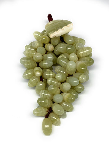 "630g, 9""x4"" Green Onyx Grape Bunch Stone Marble Decor @Pakistan,B7864"