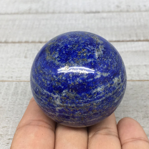 "186.6g, 1.9""Natural Lapis Lazuli Crystal Sphere Ball Handmade @Afghanistan,LS158"