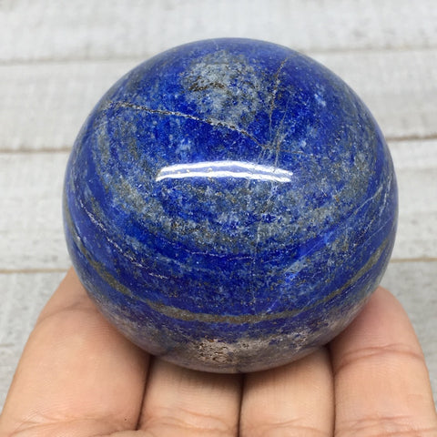 "233.5g, 2.1""Natural Lapis Lazuli Crystal Sphere Ball Handmade @Afghanistan,LS164"
