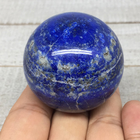 "150.5g,1.8"" Natural Lapis Lazuli Crystal Sphere Ball Handmade @Afghanistan,LS177"