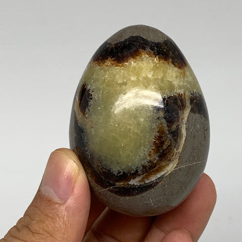 "148.7g, 2.3""x1.7"" Natural Polished Septarian Egg, gemstones @Madagascar,B5270"
