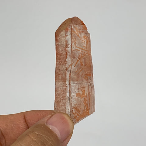 "26.7g, 2.4""x0.9""x0.6"", Natural Red Quartz Crystal Terminated @Morocco, B11464"