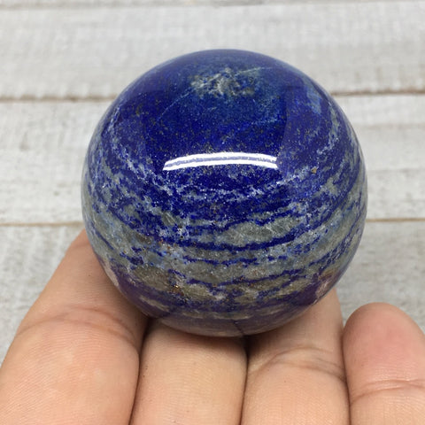 "148.3g,1.8""Natural Lapis Lazuli Crystal Sphere Ball Handmade @Afghanistan,LS183"
