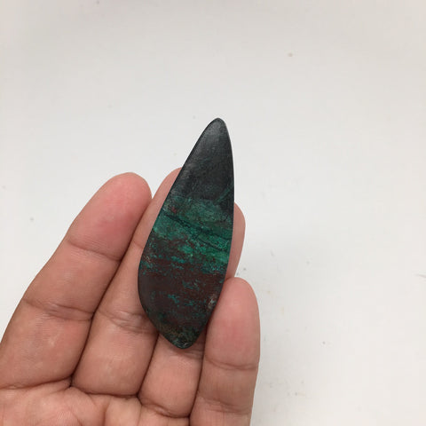 63 cts Natural Sonora Sunset Chrysocolla Cuprite Triangle Cabochon @Mexico, SO13 - watangem.com