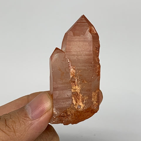 "35.8g, 2.2""x1.1""x0.8"", Natural Red Quartz Crystal Terminated @Morocco, B11473"