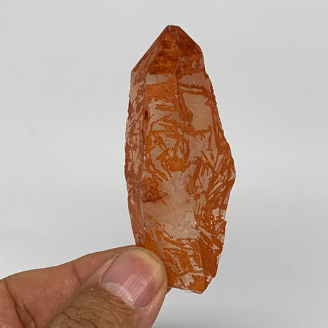 "36g, 2.7""x1.1""x0.8"", Natural Red Quartz Crystal Terminated @Morocco, B11479"