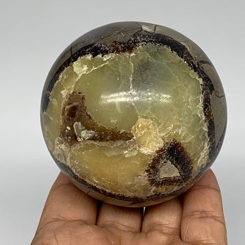 "500g,2.8"" Natural Septarian Sphere Crystal Gemstone Ball @Madagascar, B5289"