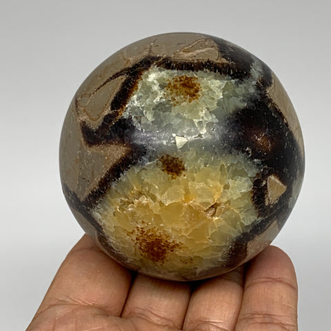 "421.6g,2.7"" Natural Septarian Sphere Crystal Gemstone Ball @Madagascar, B5290"