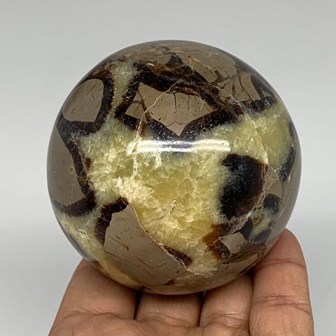 "480.6g,2.8"" Natural Septarian Sphere Crystal Gemstone Ball @Madagascar, B5296"