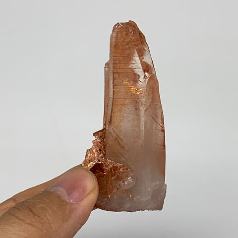 "48.7g, 2.6""x1.2""x0.9"", Natural Red Quartz Crystal Terminated @Morocco, B11487"