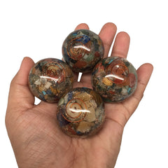 "1pc, 70-76g, 1.4"" New Chakra Orgone Ball/Sphere Healing Balancing Gemstone,MS114 - watangem.com"