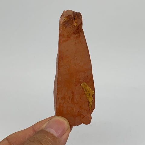 "45.8g, 3""x1.1""x0.9"", Natural Red Quartz Crystal Terminated @Morocco, B11498"