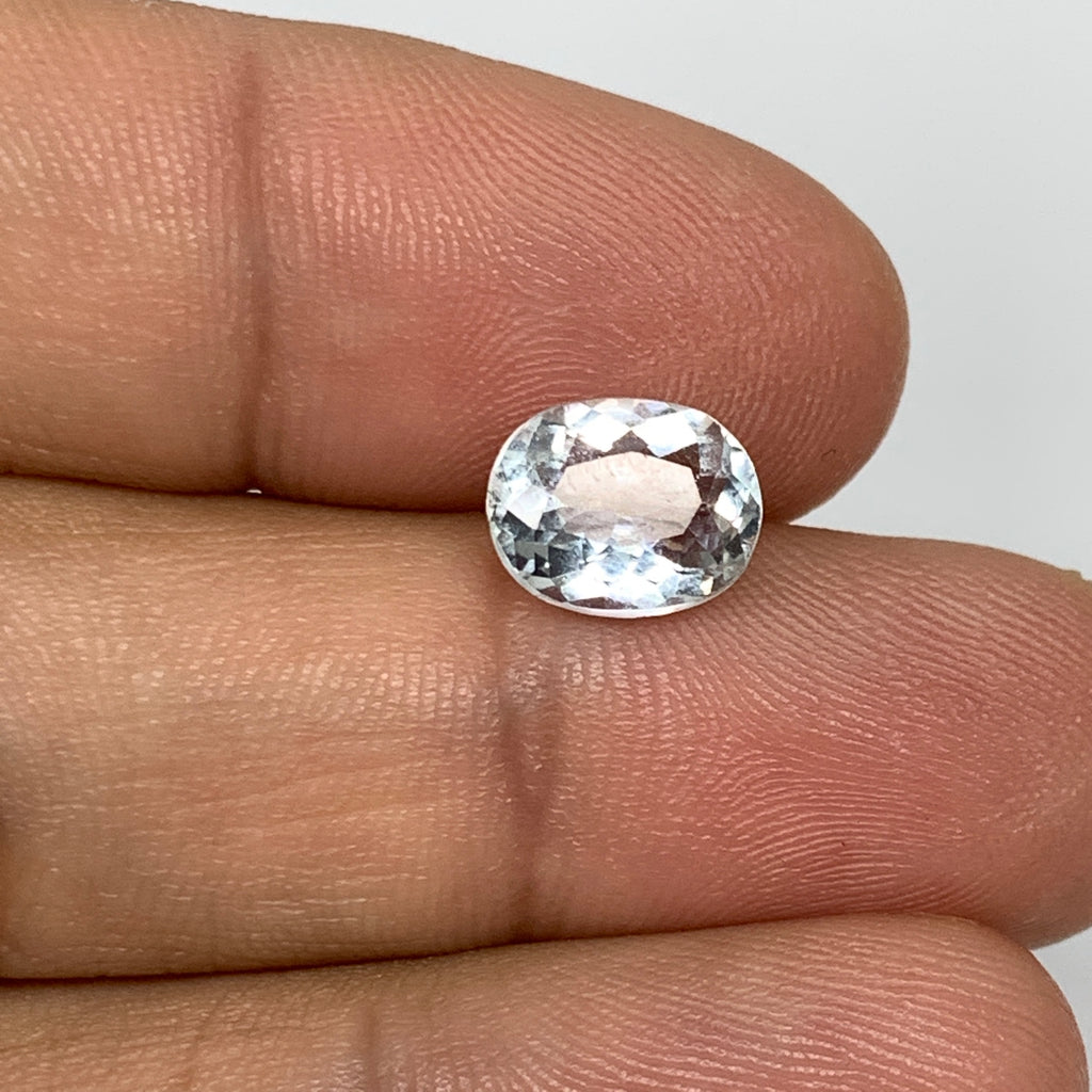 1.83cts, 9mmx7mmx4mm, Aquamarine Crystal Facetted Stone Loose @Pakistan,CTS128