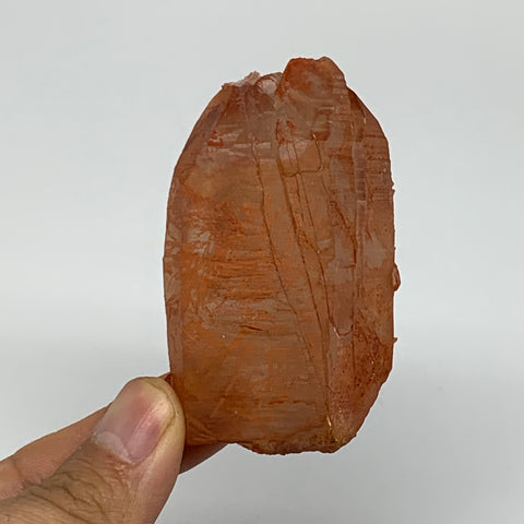 "104.4g, 2.7""x1.7""x1.1"", Natural Red Quartz Crystal Terminated @Morocco, B11499"